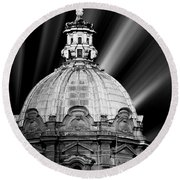 Cupola In Rome Round Beach Towel