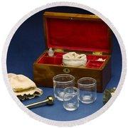 Cupping Set, London, England, C. 1865 Round Beach Towel