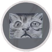 Curious Eyes Round Beach Towel