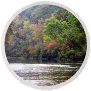 Current River 1 Round Beach Towel