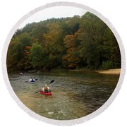 Current River 3 Round Beach Towel