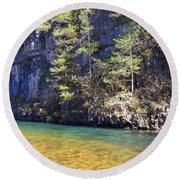 Current River 7 Round Beach Towel by Marty Koch