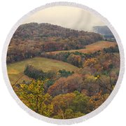 Current River Valley Near Acers Ferry Mo Dsc09419 Round Beach Towel