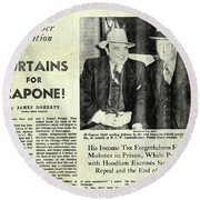 Curtains For Capone Round Beach Towel