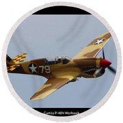 Curtis P-40n Warhawk Round Beach Towel
