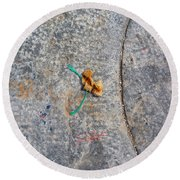 Curve And Counter Curve Round Beach Towel
