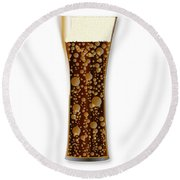 Curved Cola Glass Round Beach Towel