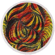 Curved Lines 2 Round Beach Towel