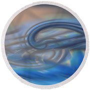 Curved Lines Round Beach Towel