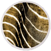 Curves And Folds Round Beach Towel