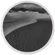 Curves Into The Night Round Beach Towel