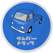 Custom Color Subaru Sambar Truck Round Beach Towel