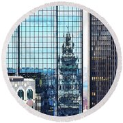 Custom House Reflection Round Beach Towel