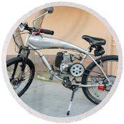 Custom Made Motor Bike Round Beach Towel