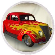 Customized Ford Round Beach Towel