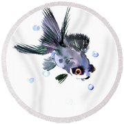 Cute Fish Round Beach Towel