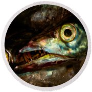 Cutlassfish Eyes Round Beach Towel