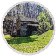 Cuttalossa Mill In The Springtime Round Beach Towel