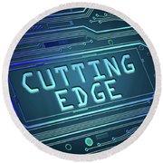 Cutting Edge Concept. Round Beach Towel