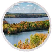 Cuyuna Country State Recreation Area - Autumn #1 Round Beach Towel