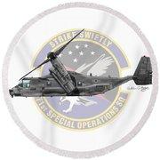 Cv-22b Osprey 71sos Round Beach Towel