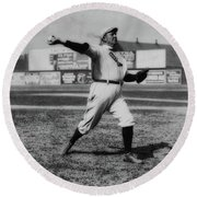 Cy Young With The Boston Americans 1908 Round Beach Towel