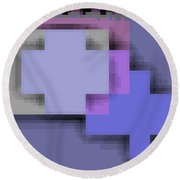Cyberstructure 3 Round Beach Towel by Eikoni Images