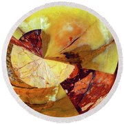 Cycle Of Life Squared  Round Beach Towel