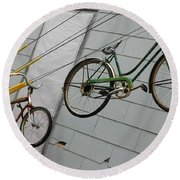 Cycles Round Beach Towel