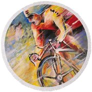 Cycling Round Beach Towel