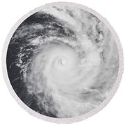 Cyclone Zoe In The South Pacific Ocean Round Beach Towel