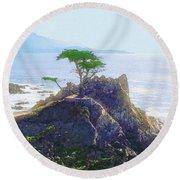 Cypress At Carmel Round Beach Towel