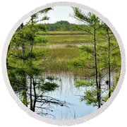 Cypress Dome Round Beach Towel