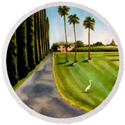 Cypress Palms Round Beach Towel