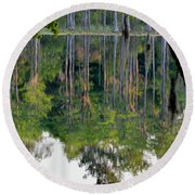 Cypress Pond Round Beach Towel