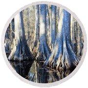 Cypress Reflection Round Beach Towel