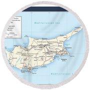 Cyprus 2 Round Beach Towel