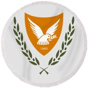 Cyprus Coat Of Arms Round Beach Towel