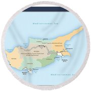 Cyprus Round Beach Towel