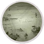 D-day Reenactment Round Beach Towel