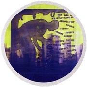 D U Rounds Project, Print 24 Round Beach Towel