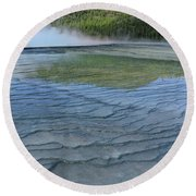 D09131 Gps Reflection Round Beach Towel
