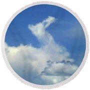 D09148-dc Cloud Camel Round Beach Towel