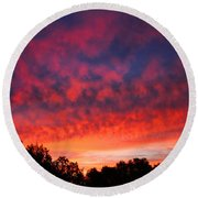 D6b6324 Another Sonoma Sunrise Round Beach Towel