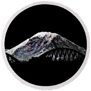 Da Mountain And Stadia Round Beach Towel
