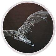 Da Vinci Flying Machine Round Beach Towel