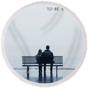 Dad Round Beach Towel