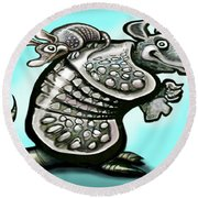 Daddy Dillo Round Beach Towel