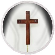 Dad's Faith Round Beach Towel