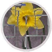 Daffodil 1 Round Beach Towel